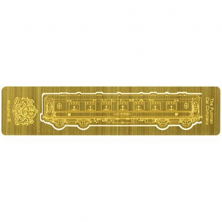 Pullman Car Compnay Etched Brass Bookmark